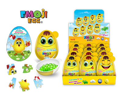 Emoji Egg EE12 Emoji Egg Giant with Surprises, Pack of 3