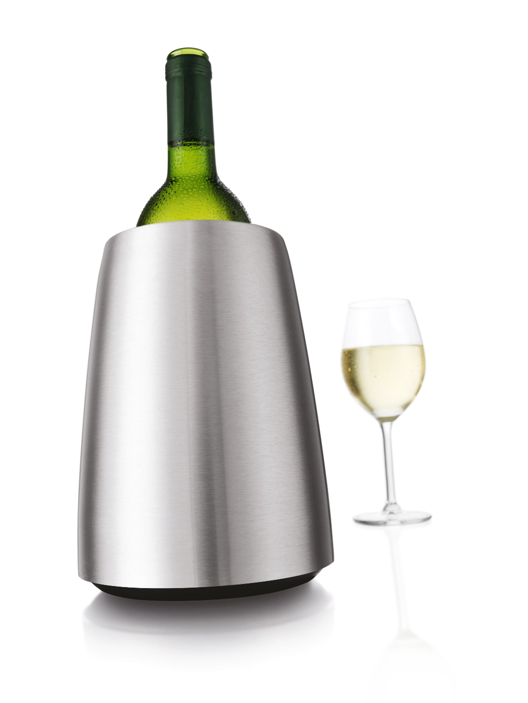 Vacu Vin 3649360 Active Wine Cooler Elegant, Stainless Steel - Gift Box