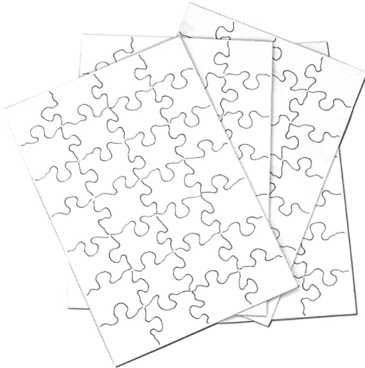 Inovart 2743 5 .5 x 8 in. Puzzle-It Blank Puzzles with Envelopes & 8 Puzzles Per Pack, White - 28 Piece