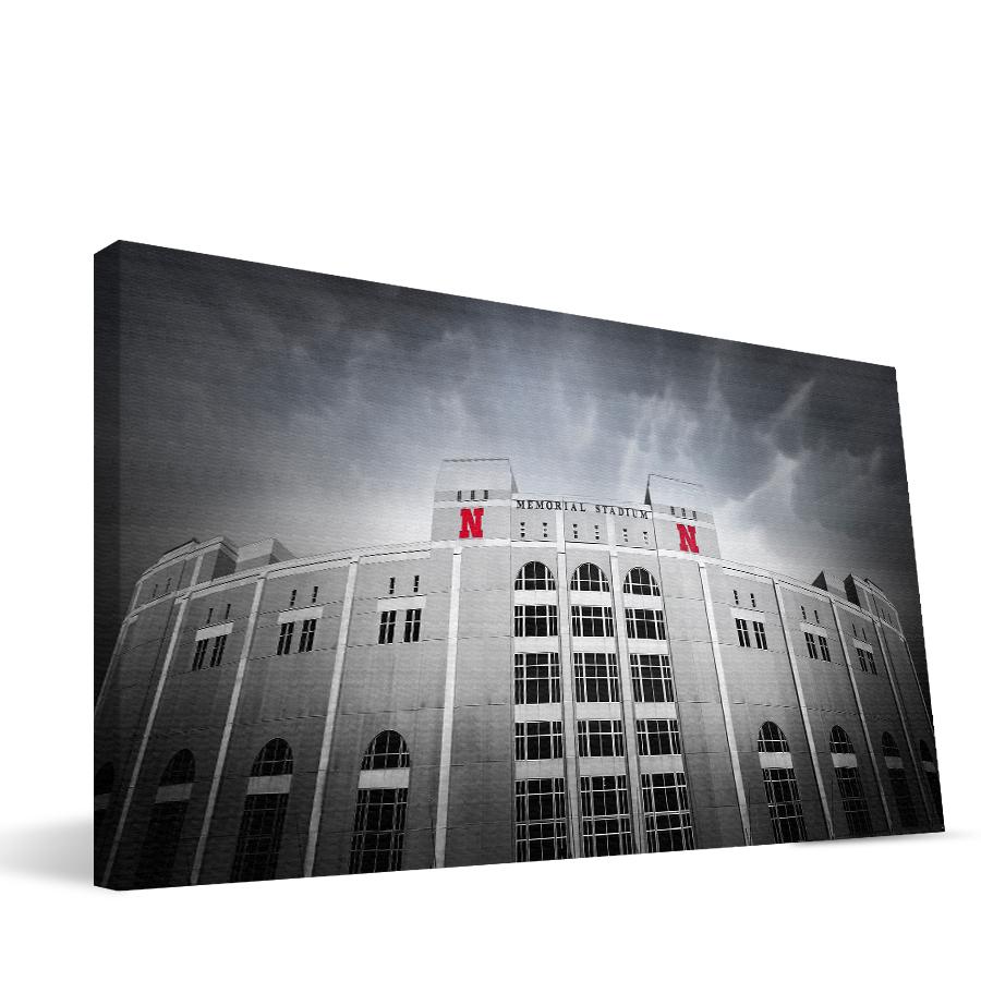 Nebraska 16x36 Memorial Stadium Canvas
