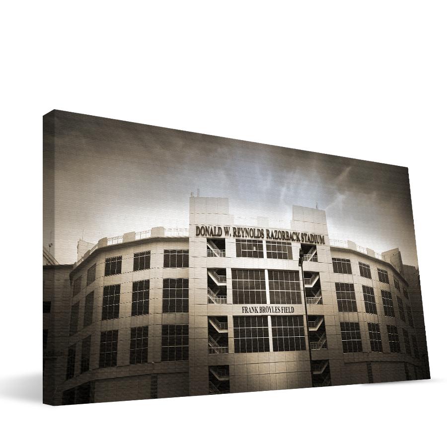 Arkansas 16x36 Donald W. Reynolds Razorback Stadium Canvas