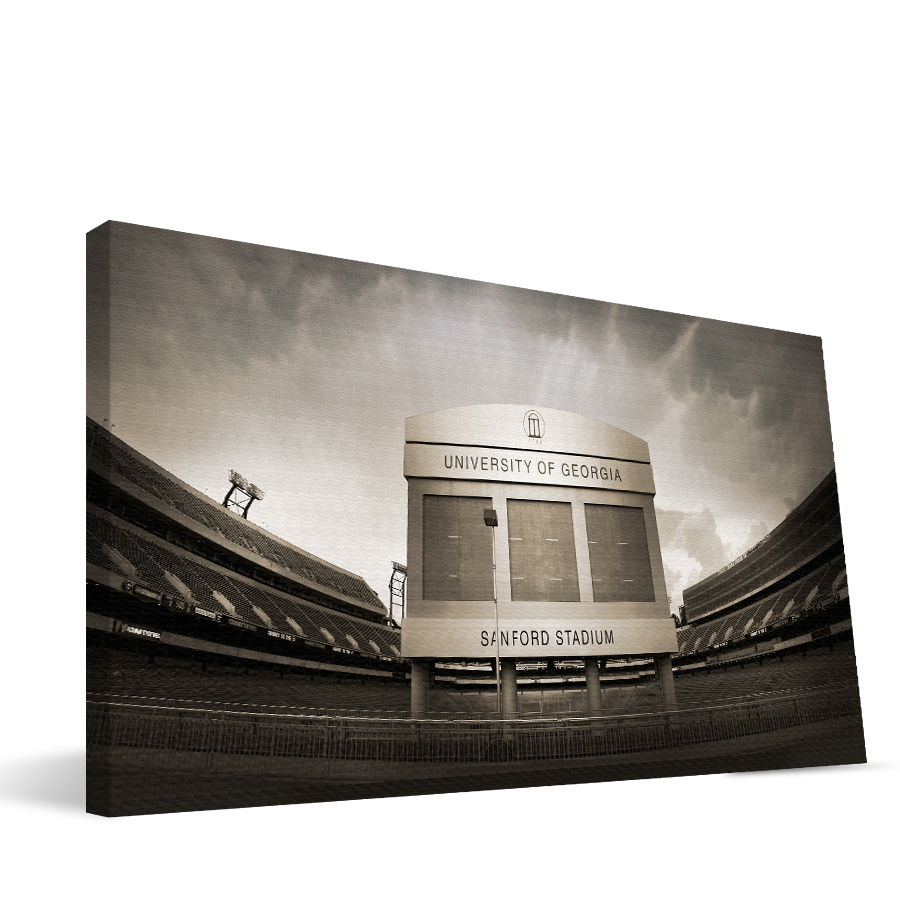 Georgia 16x36 Sanford Stadium Canvas