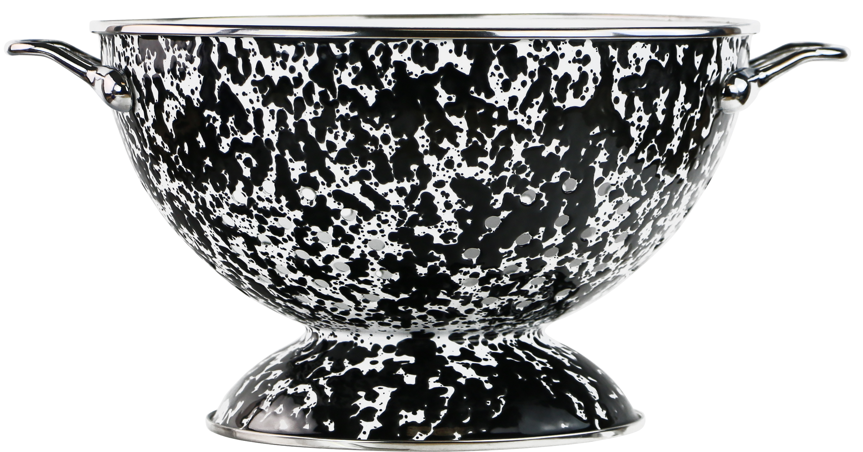 Reston Lloyd 80710 3 qt. Enamel Colander, Black Marble