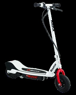 Razor 13112410  E200 Electric Scooter -White/Red