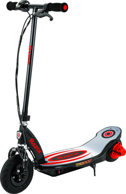Razor 13111288 Power Core E100 Electric Scooter with Aluminum Deck - Red
