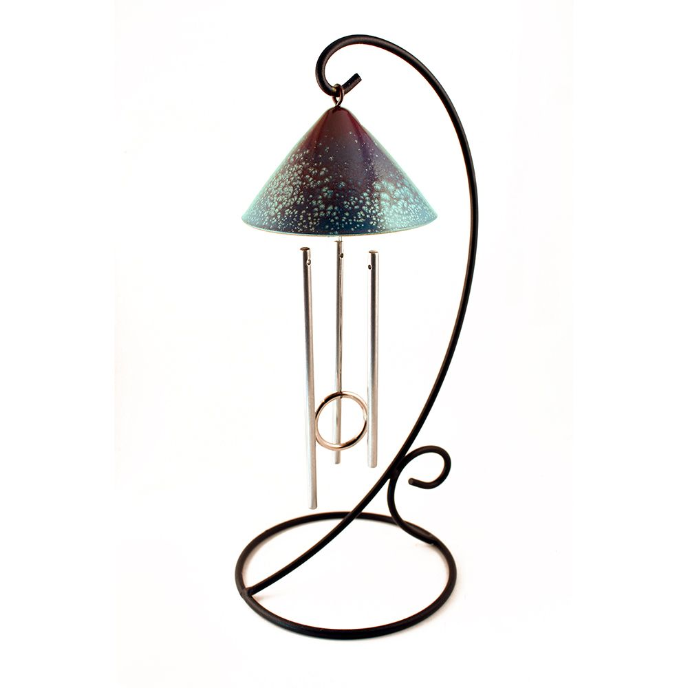 Sunblossom Solar Gifts SPT1-pur-tl SunSprite Solar Powered Indoor Chime - Purple & Teal