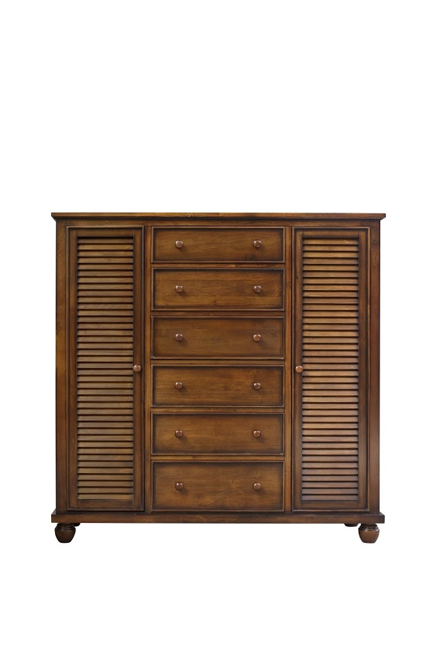 Sunset Trading CF-1142-0158 Bahama Shutter Wood Armoire