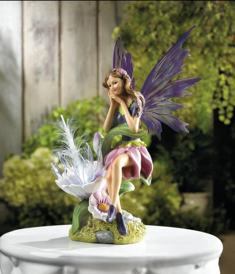 Summerfield Terrace 10018276 Solar Fairy with Flower