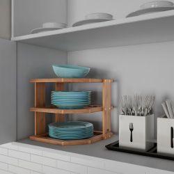 Lavish Home 83-10-4  3-Tier Bamboo Corner shelf