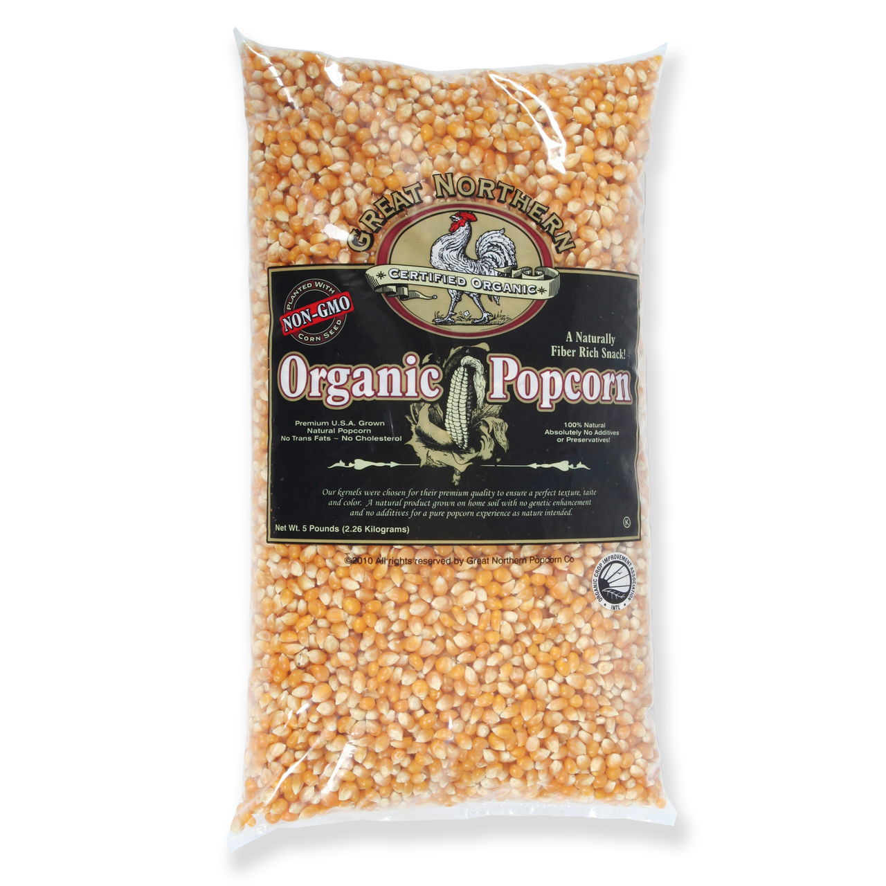 Great Northern Popcorn 83-DT5369 4000 Organic Yellow Gourmet Popcorn, 5 lbs - Pack of 2