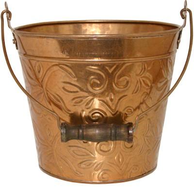 Robert Allen 211990 8 in. Floral Planter, Copper