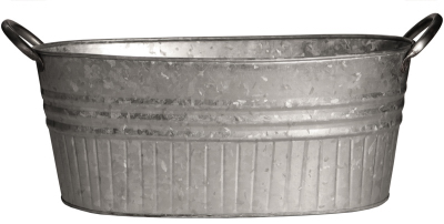 Robert Allen 212000 24 in. Galvanized Tub Planter
