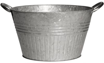 Robert Allen 212004 16 in. Galvanized Round Tub Planter