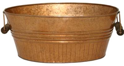 Robert Allen 212050 14 in. Basin Planter, New Copper