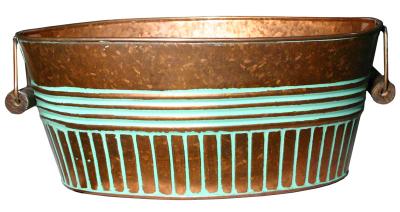 Robert Allen 212051 14 in. Basin Planter, Vintage Copper