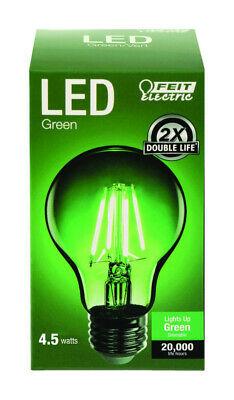 FEIT Electric Filament A19 E26 (Medium) LED Bulb Green 30 Watt Equivalence 1 pk