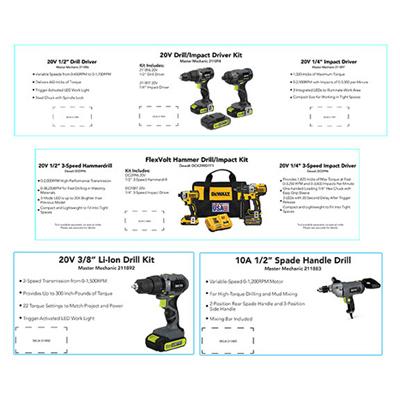Darwill 256229 Dewalt Power Tool Cards For All 4  Dewalt Power Tool Sets