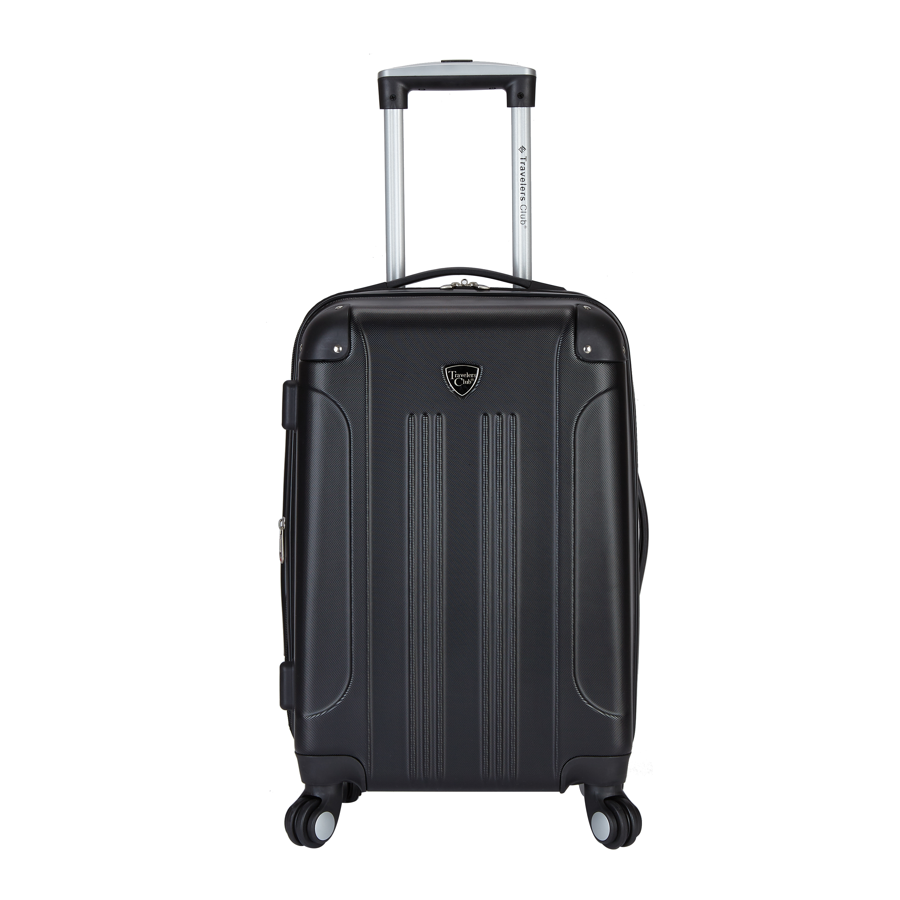 Travelers Club HS-20720-001 Chicago 20 in. Hardside ABS Expandable Carry-On, Black
