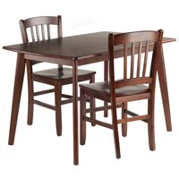 Winsome Wood 94358 Shaye Dining Table Set with Slat Back Chairs - 3 Piece