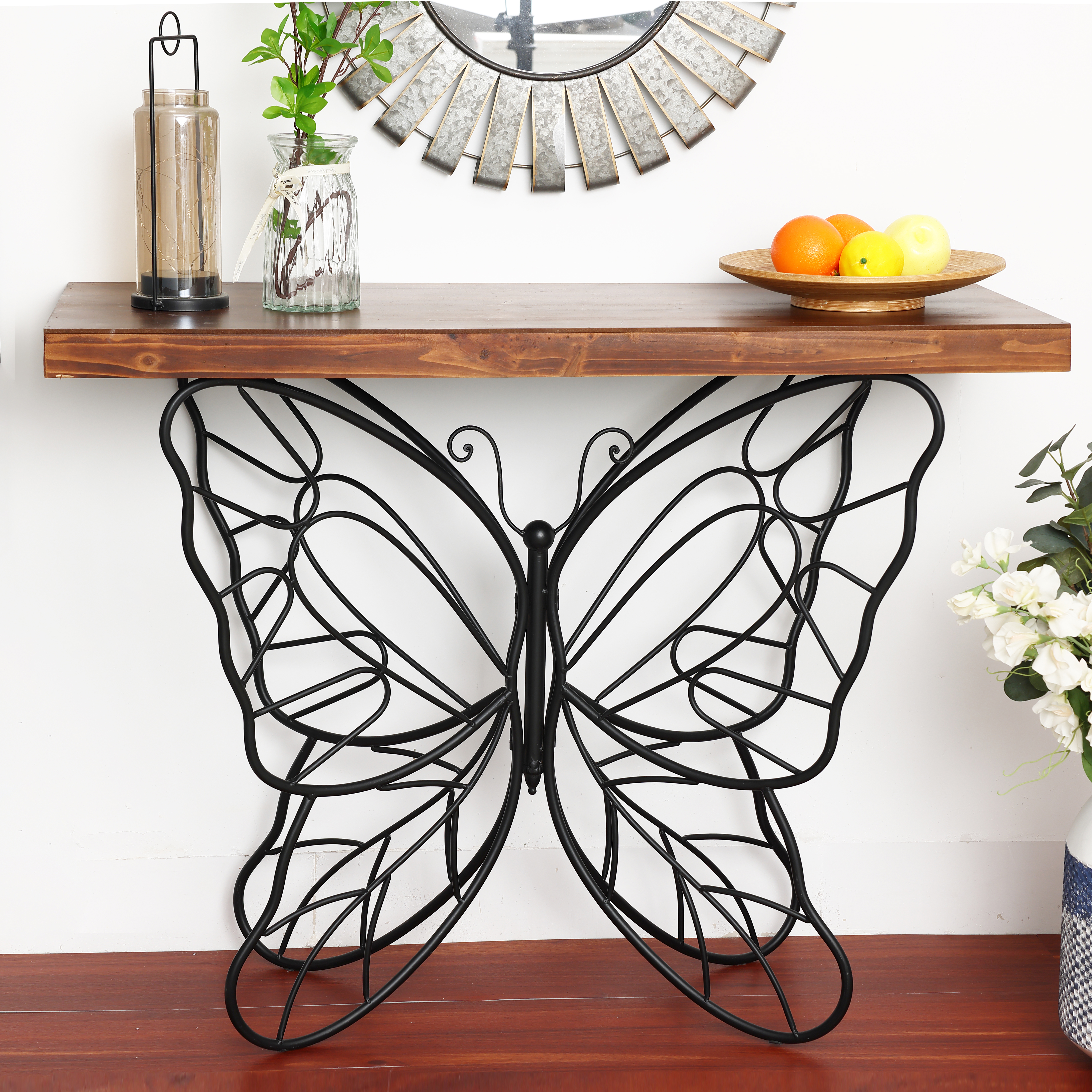 Luxen Home WH186 Butterfly Accent Table