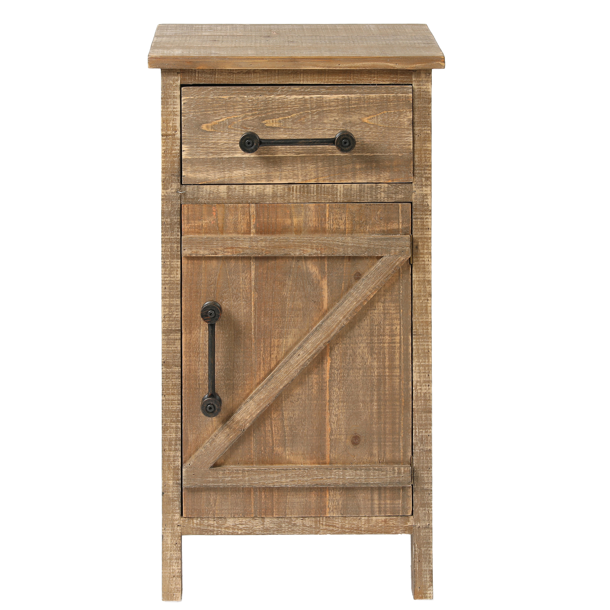 Luxen Home WH171 Rustic Wood Console Cabinet  Small