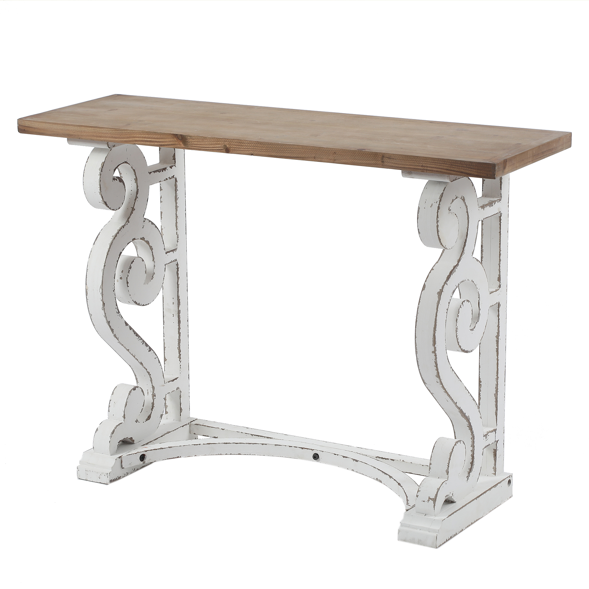Luxen Home Wood Rustic Vintage Console and Entry Table
