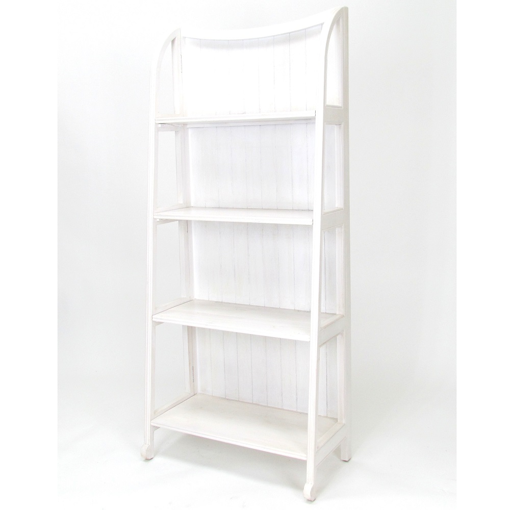 Wayborn Home Furnishings 3539W 60 x 26 x 13 in. Display Stand - Whitewash