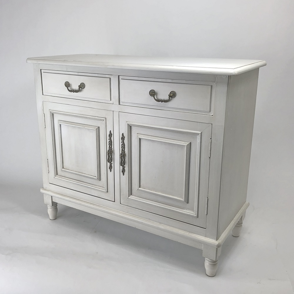 Wayborn Home Furnishings 5560W 35 x 42 x 18 in. Paladin Buffet Cabinet - Whitewash