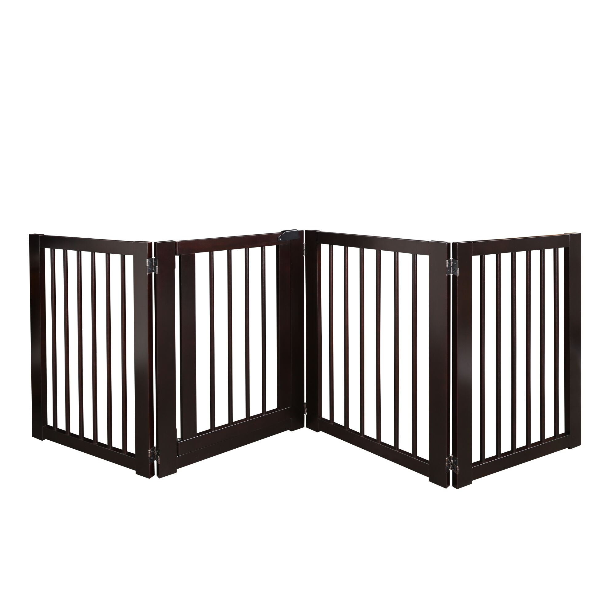 American Trails 600-54 Free Standing Pet Gate with Door - Espresso