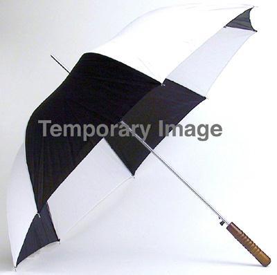 All-Weather 48 Inch Auto Open Umbrella - Black / White