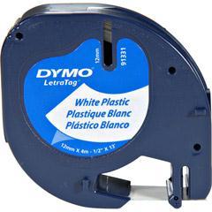 Dymo 91331 Dymo 1-2 Inch Plastic LetraTag Tape