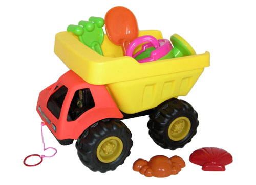 Sunshine Trading BT-388 Dump Truck Sand Toy - 6 Piece Set