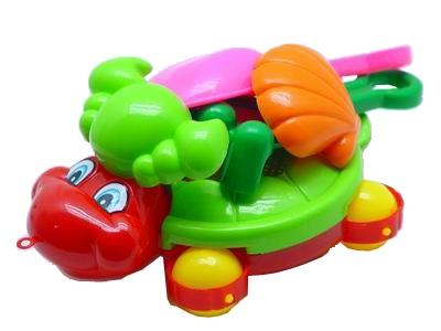 Sunshine Trading BT-399 Wheeled Turtle Sand Toy - 6 Piece Set