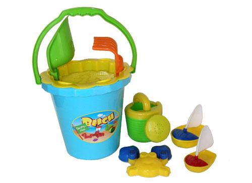 Sunshine Trading BT-42 Bucket Sand Toy - 8 Piece Set