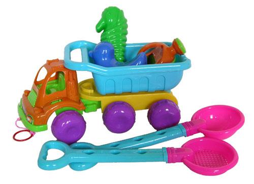 Sunshine Trading YS-1214 Dump Truck Sand Toy - 7 Piece Set