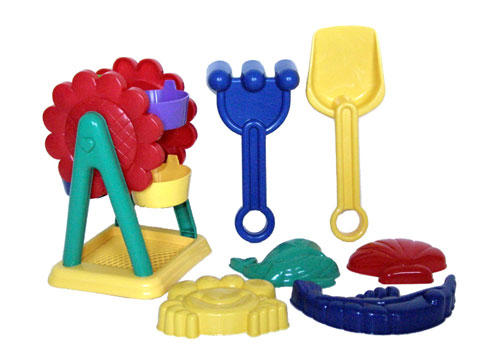 Sunshine Trading YS-266 Sand Wheel Toy - 7 Piece Set