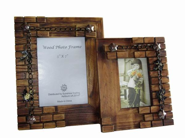 Sunshine Trading ST-01-7 Handmade Wood Photo Frame - 5 x 7 Inch