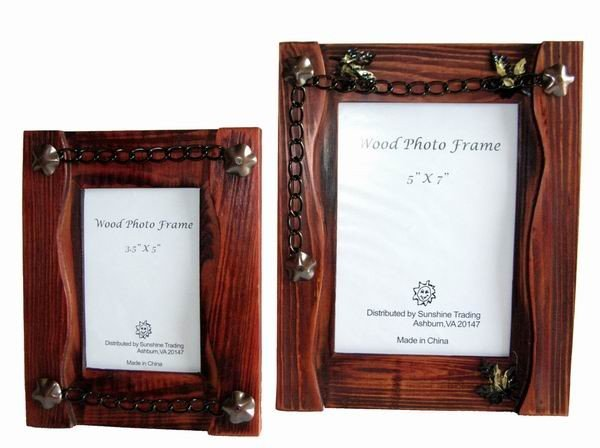 Sunshine Trading ST-02-7 Handmade Wood Photo Frame - 5 x 7 Inch