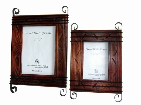 Sunshine Trading ST-03-7 Handmade Wood Photo Frame - 5 x 7 Inch