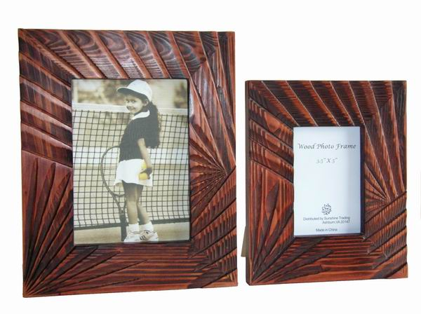 Sunshine Trading ST-05-5 Handmade Wood Photo Frame - 3.5 x 5 Inch
