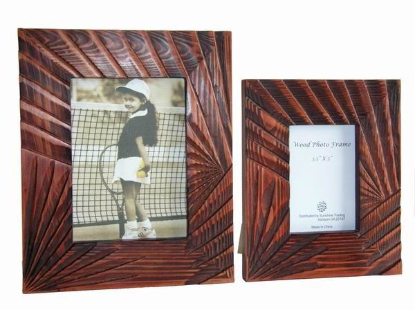 Sunshine Trading ST-05-7 Handmade Wood Photo Frame - 5 x 7 Inch