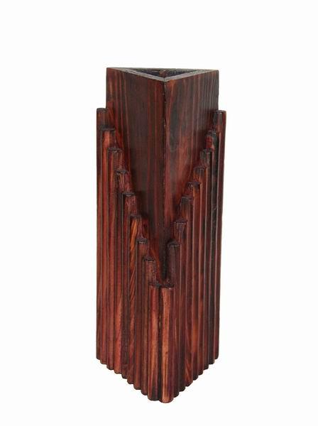 Sunshine Trading STV-02 Handmade Wood Vase