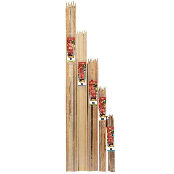 BOND 989538 4 x 3/4 x 3/4 Hardwood Stakes 4 Foot - Natural