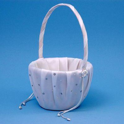 Ivy Lane Design A01080FB/WHT Celebrity Flower Girl Basket - White