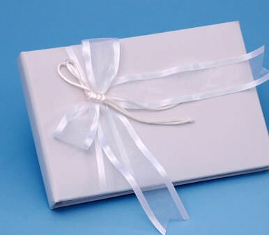 Ivy Lane Design A01115GB/WHT Simplicity Guest Book - White