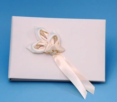 Ivy Lane Design A01075GB/IVO Calla Lily Guestbook - Ivory