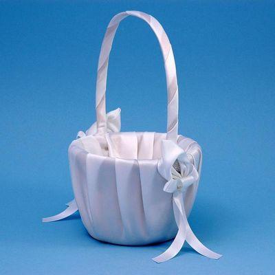 Ivy Lane Design A01075FB/WHT Calla Lily Flower Girl Basket - White