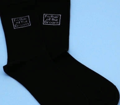 Ivy Lane Design 21XSI Father of the Groom Socks - Black and White