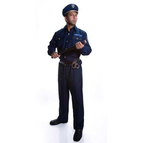 Dress Up America 330-S Adult Police Officer Costume - Size Small