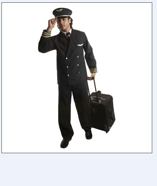 Dress Up America 339-L Adult Pilot Costume with Jacket - Size Large